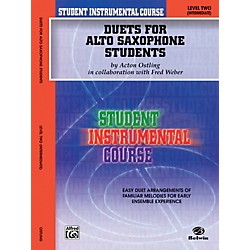 Alfred Student Instrumental Course Duets for Alto Saxophone Students Level II Book (00-BIC00235A)
