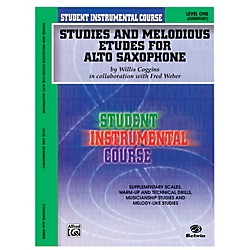 Alfred Student Instrumental Course Studies and Melodious Etudes for Alto Saxophone Level I Book (00-BIC00132A)