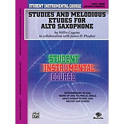 Alfred Student Instrumental Course Studies and Melodious Etudes for Alto Saxophone Level III Book (00-BIC00332A)