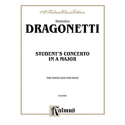 Alfred Student's Concerto in A Major for String Bass By Domenico Dragonetti Book (00-K04456)