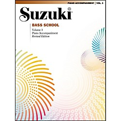Alfred Suzuki Bass School Piano Accompaniment Volume 3 (00-0377S)