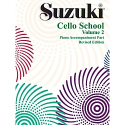 Alfred Suzuki Cello School Piano Accompaniment Volume 2 Book (00-0482S)