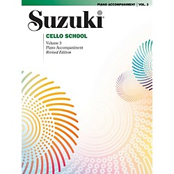 Alfred Suzuki Cello School Piano Accompaniment Volume 3 Book (00-0484S)