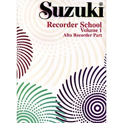 Alfred Suzuki Recorder School (Alto Recorder) Recorder Part Volume 1 (00-0557S)