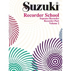 Alfred Suzuki Recorder School (Soprano Recorder) Recorder Part Volume 2 (00-0554S)