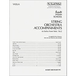Alfred Suzuki String Orchestra Accompaniments to Solos from Volumes 1 & 2 for Viola Book (00-0321)