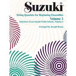 Alfred Suzuki String Quartets for Beginning Ensembles Volume 2 (Book) (00-0282S)