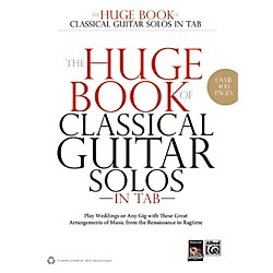 Alfred The Huge Book of Classical Guitar Solos in TAB Book (00-39027)