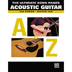 Alfred The Ultimate Song Pages Acoustic Guitar A to Z (321440)