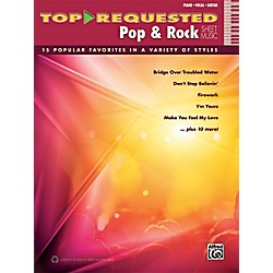 Alfred Top-Requested Pop & Rock Sheet Music P/V/G Book (00-40619)