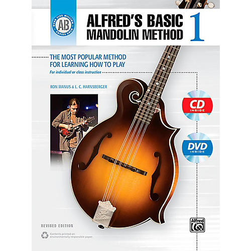 Alfred Alfred's Basic Mandolin Method 1 (Revised) Book, CD & DVD-thumbnail