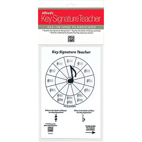 Alfred Alfred's Music Key Signature Teacher All-In-One Flashcard (White)-thumbnail