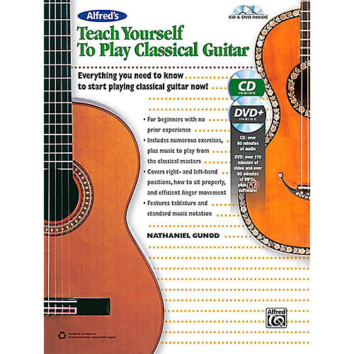 Alfred Alfred's Teach Yourself to Play Classical Guitar Book, CD & DVD-thumbnail