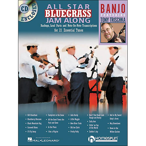 Homespun All Star Bluegrass Jam-Along for Banjo Book/CD