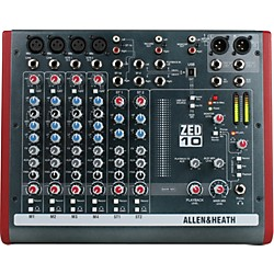 Allen & Heath ZED-10 10-Channel USB Mixer (AH-ZED-10-OLD)
