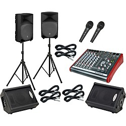 Allen & Heath ZED10 / Thump TH-12A Mains and Monitors Package (MMUSBFXKPC12PMM)