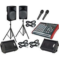 Allen & Heath ZED10 / Thump TH-15A Mains & Monitors Package (ZED10TH15AMM)