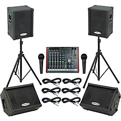 Allen & Heath ZED10FX / KPC12P Mains & Monitors Package (ZED10FXKPC12PMM)