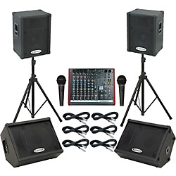 Allen & Heath ZED10FX / KPC15P Mains & Monitors Package (ZED10FXKPC15PMM)