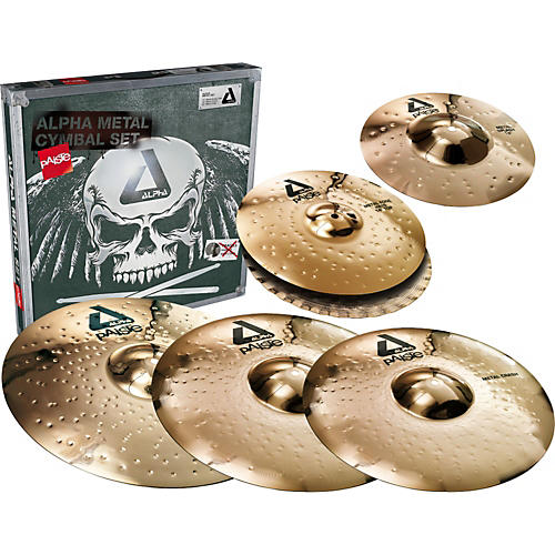 Paiste Alpha Complete Metal Cymbal Pack-thumbnail