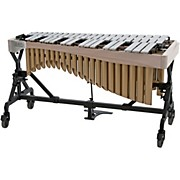Adams Alpha Series 3.0 Octave Vibraphone, Silver Bars Motor Traveler Frame White Wash Rails