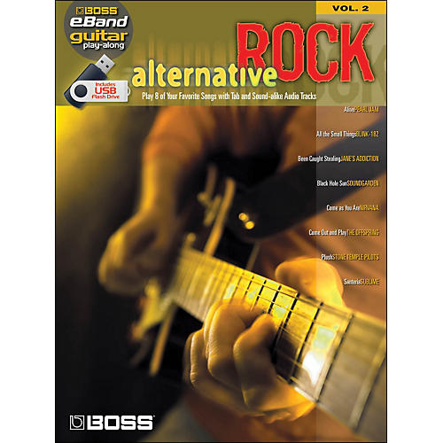 Hal Leonard Alternative Rock Guitar Play -Along Volume 2 (Boss eBand custom Book with USB Stick)