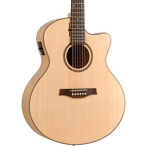 Seagull Amber Trail CW Mini Jumbo SG Acoustic-Electric Guitar Natural