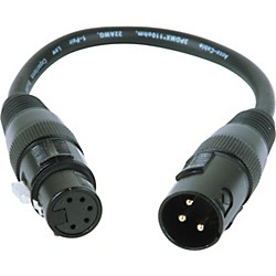 American DJ 3-Pin Male XLR to 5-Pin Female XLR Turnaround (AC3PM5PFM)