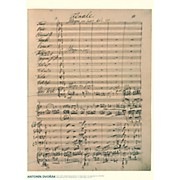 Axe Heaven Antonin Dvorak Music Manuscript Poster - Piano Concerto in G minor, Op. 33