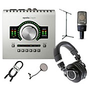 Universal Audio Apollo Twin SOLO, ATH-M50x and C214 Package