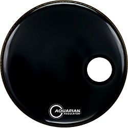Aquarian Regulator Black Resonant Kick Drumhead (RSM-20 BLACK)