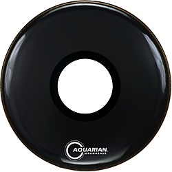 Aquarian Regulator Large Black Hole Drumhead (RPT-20 BLACK)