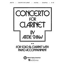 Music Sales Artie Shaw - Concerto for Clarinet Music Sales America Series Performed by Artie Shaw