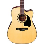 Ibanez Artwood Series AW50ECE Solid Top Dreadnought Acoustic-Electric Guitar