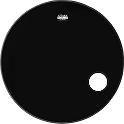 Attack 1-Ply No Overtone Ported Black Drumhead (DHNO22P)
