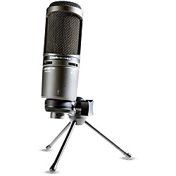 Audio-Technica AT2020USB+ Side-address Cardioid Condenser USB Microphone (AT2020USB+)