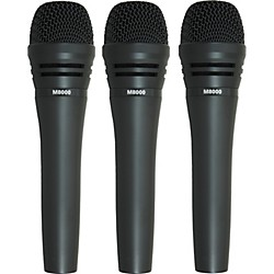 Audio-Technica M8000 Dynamic Mic 3 Pack (M80003pk KIT)