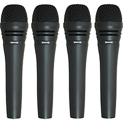 Audio-Technica M8000 Dynamic Mic 4 Pack (M80004pk KIT)