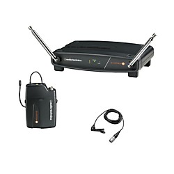 Audio-Technica System 8 Wireless System includes: UniPak Transmitter w/ Lavalier Microphone (ATW-801/L-T2)