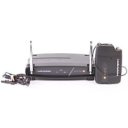Audio-Technica System 8 Wireless System includes: UniPak Transmitter w/ Lavalier Microphone (USED007001 ATW-801/L-T8 O)