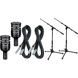 Audix D6 Kick Drum Mic with Cable and Stand 2 Pack (D6PACK2)
