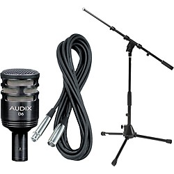 Audix D6 Kick Drum Mic with Cable and Stand (D6PACK)