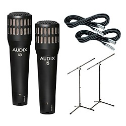 Audix I-5 Mic with Cable and Stand 2 Pack (I5PACK2)