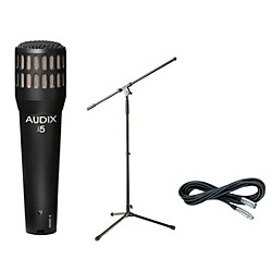 Audix I-5 Mic with Cable and Stand (I5PACK)