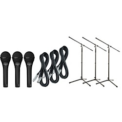 Audix OM-2 Mic with Cable and Stand 3 Pack (OM2PACK3)