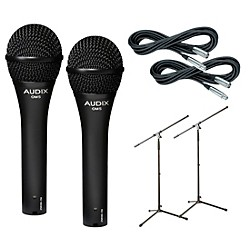 Audix OM-5 Mic with Cable and Stand 2 Pack (OM5PACK2)