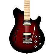 Ernie Ball Music Man Axis Super Sport HH Hollowbody Electric Guitar with Tremolo/Piezo Bridge