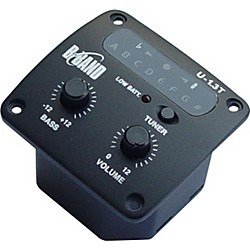 B-Band U1.3T Onboard Sidemount Ukulele Preamp with Tuner and Undersaddle Pickup (U1.3T-24R)