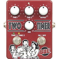 BBE Two Timer Delay Guitar Effects Pedal (1-TWOTIMER)