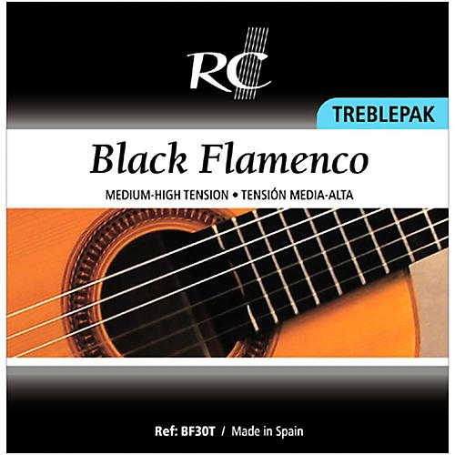 RC Strings BF30T Black Flamenco Treblepak - 1st, 2nd and 3rd strings for Nylon String Guitar-thumbnail